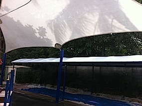 Shade Sail Cleaning After